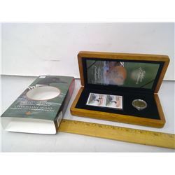 2004 Elusive Loon Coin & Stamp in Wooden Box