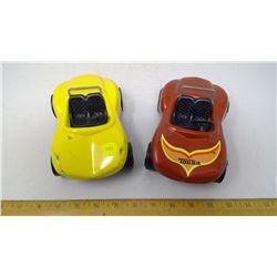 Yellow and Red Tonka Toy Cars