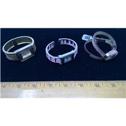 3 Assorted Watches - Gold, Breast Cancer Awareness, and Wrap-Around