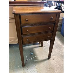 3 Drawer Sewing Table with Contents