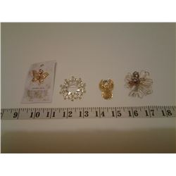 4 Angel Brooches