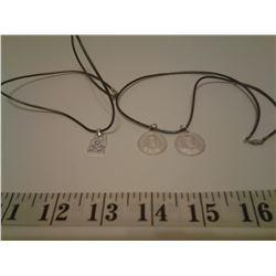 2 Cord Pendant Necklaces