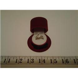 Sterling Silver SRV 160 Diamond Ring - Size 7
