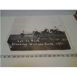 Let Er Buck Stampede Wallard, Saskatchewan - 6 Placemats from 1921
