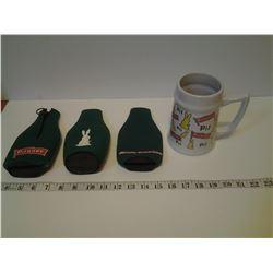 Pilsner Mug and 3 Beer Holders