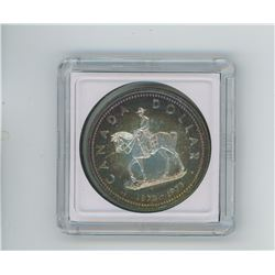 1973 RCMP silver dollar specimen nicely toned