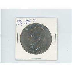 1776-1976 D Einshenhower dollar