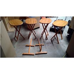 Side Folding Tables x4 - NEEDS REPAIR