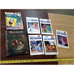 5 Walt Disney's Sports Encyclopedia, Spongebob Book, and Pirates of the Caribbean Storybook + CD