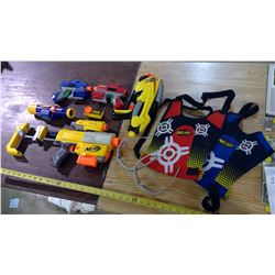 Lot of Nerf Guns and Accessories
