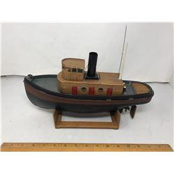 Motorized (Handmade) Wood Tug (Harbour Tug)