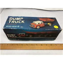 "Friction Drive Metal Dump Truck - 10"""
