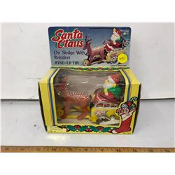 Wind-Up Santa Claus on Sled