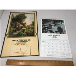 2 Calendars 1941 and 1973