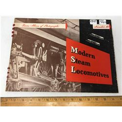 1945 - 20 Pages Mod. Steam Locomotive Photograph