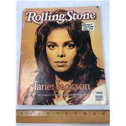 February 1990 Issue Rolling Stone Magazine - Janet Jackson