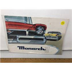"""1957 Large Orignal """"Monarch"""" Fold Deaker Brochure"""