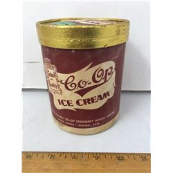 1 QT Co-op Ice Cream Container