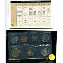2007 - seven coin uncirculated P/L set with curved seven dime
