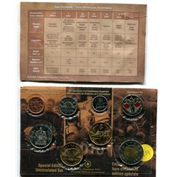 2010 special edition uncirculated set with poppy quarter, navy and rider loonies