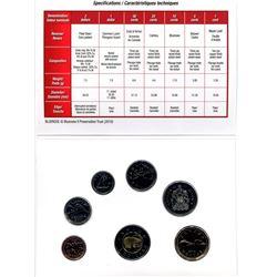 2010 - canada seven coin uncirculated set