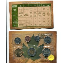 2011 - Royal canadian mint uncirculated seven coin set