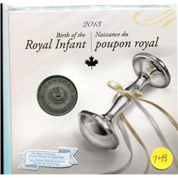 2013 - birth of the royal infant - prince george of cambrudge .25 cent coin