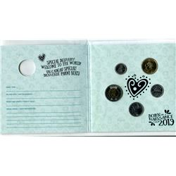 2019 - baby gift set - standard 4 coins, plus $1.00 welcome to the world