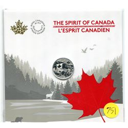 2017 - the spirit of canada - $3.00 fine silver coin