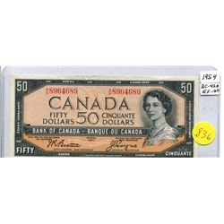 1954 Bank of Canada Fifty Dollar Note