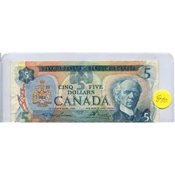 1979 Bank of Canada Five Dollar Note