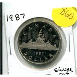1987 Canadian Silver Dollar - Uncirculated