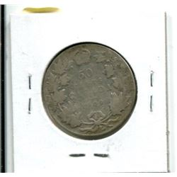 1909 Canadian Fifty Cent Coin