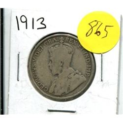 1913 Canadian Fifty Cent Coin