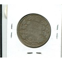 1916 Canadian Fifty Cent Coin