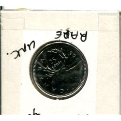 1991 Canadian Twenty-Five Cent Coin Uncirculated