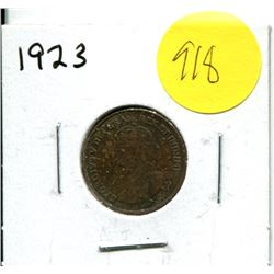 1923 Canadian One Cent Coin