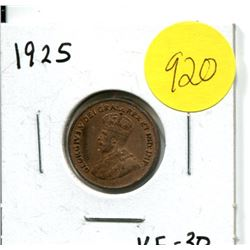 1925 Canadian One Cent Coin
