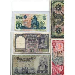 1994 Bank of Mexico Ten Pesos, 1941 Amsterdam Twenty Golden Bank Note, 1954 Bank of Mexico Five Peso