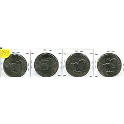 1972, 76-78 USA Silver Dollar