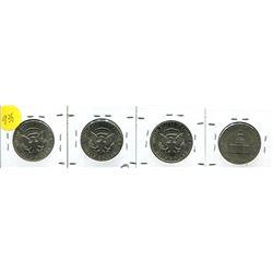 1971, 72, 73, 76 Kennedy Half Dollar