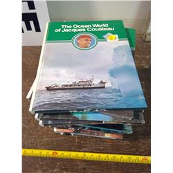 Set of 19 Jaques Cousteau Books - Missing #1