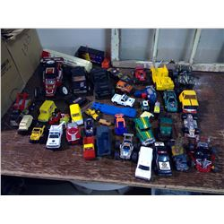 Box of Toy Cars and Trucks - Some RC