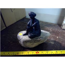 """""""Woman on a Rock"""" Reproduction Statue"""
