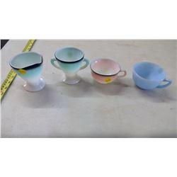 Hazel Allas Cream + Sugar and 2 Vintage Pyrex Mug