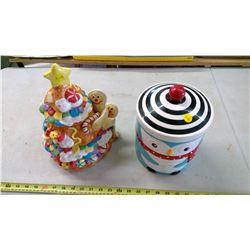 2 Christmas Cookie Jars