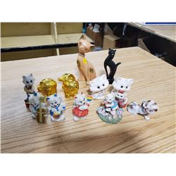 LOT OF CAT FIGURINES