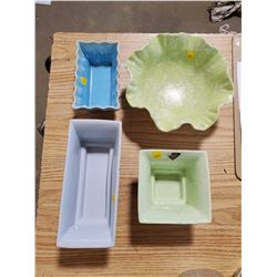 FOUR CERAMIC DISHES