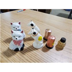 6 SALT AND PEPPER SHAKERS