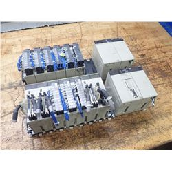 (2) Omron Chassis Unit with Modules/Power Supplies/Controllers
